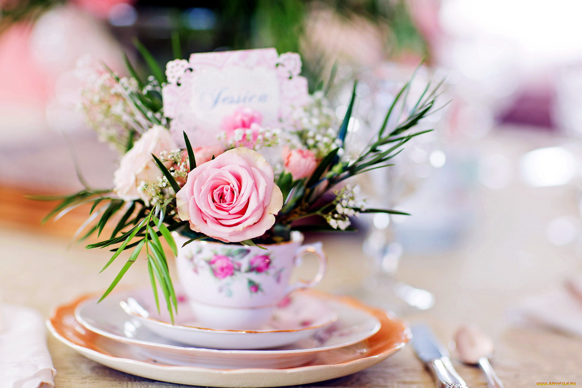 картинки с днем рождения цветы в чашке